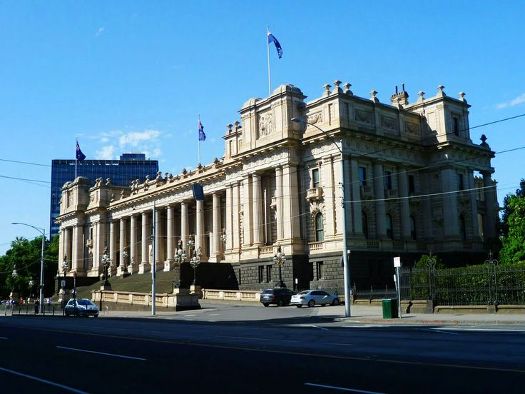 Parliament House in Melbourne, located at Spring Street in East Melbourne at the edge of the Melbourne city centre, has been the seat of the Parliament of Victoria, Australia, since 1855. #ParliamentHouse #building #government #architecture #melbourne #australia