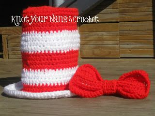 Knot Your Nana s Crochet  Dr. Suess Top Hat with Bow Tie  6a7d0715649