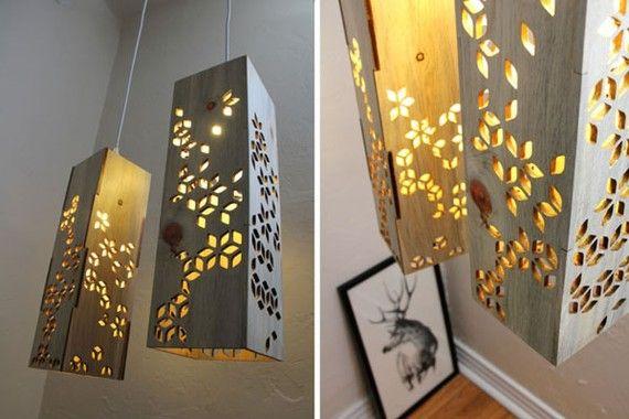 дневник дизайнера: Причудливые светильники из дерева своими руками. 10 простых идей