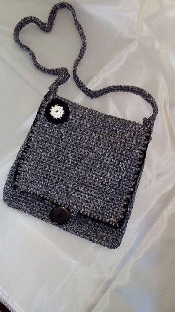 crochet bag/handmade bag/messenger bag/crochet messenger
