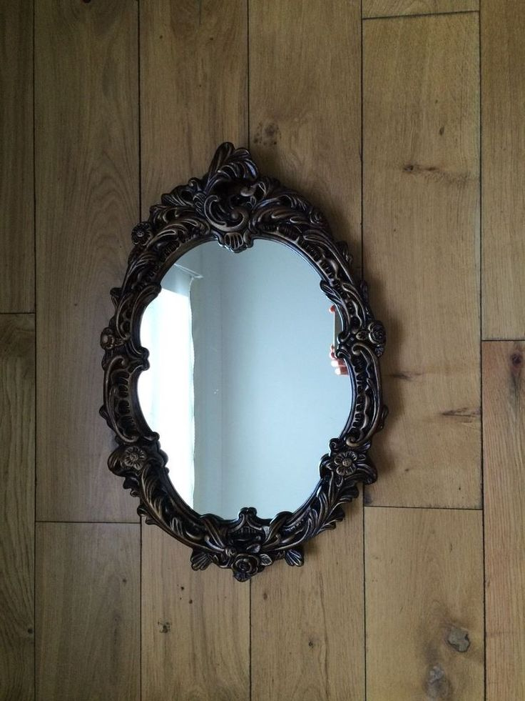 VINTAGE ORNATE GILT FRAMED WALL/DRESSING MIRROR FRENCH ANTIQUE STYLE