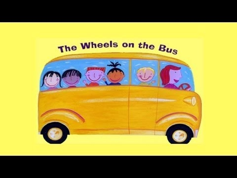 The wheels on the bus go 'round and round' Children will learn as they sing along with this popular kids song!  A favourite kids song sung by children for children. Join in with the easy actions - you won't help but move and groove along! #wheels on the bus #kids songs #lovetosing