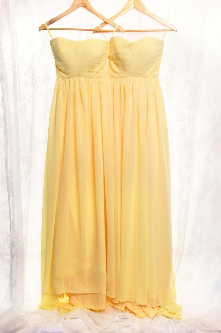 Best 25 yellow bridesmaid dresses ideas on pinterest yellow chiffon full length strapless bridesmaid dress tbqp284 ombrellifo Choice Image