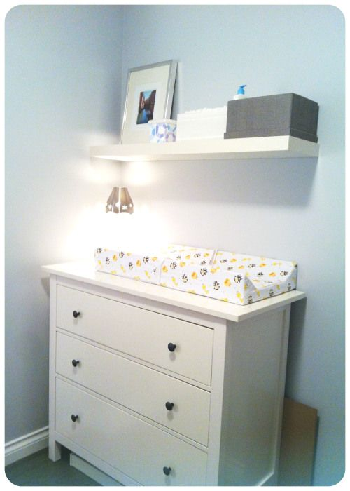 Like the changing table on top of the dresser idea
