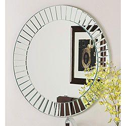 glow modern frameless wall mirror found on overstock