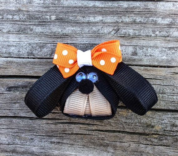 Tennessee Smokey Mascot Ribbon Sculpture - Ribbon Sculpture Hair Clips - Tennessee Volunteers Hair Clips.. Free Shipping Promo on Etsy, $4.00
