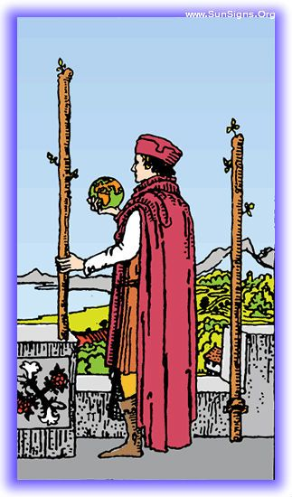 Two of Wands - Meanings & Interpretation - Minor Arcana | Sun Signs