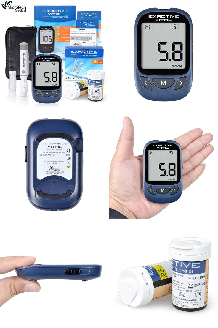 [Visit to Buy] MICROTECH MEDICAL Diabetic Blood Sugar Detection Blood Glucose Meter Glucometer Medidor de Glicemia +50 Strips & 50 Needles #Advertisement
