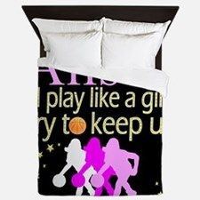 PLAY BASKETBALL Queen Duvet Calling all Basketball Players! Enjoy our awesome Basketball Home Décor only available at Cafepress. http://www.cafepress.com/sportsstar/13293761 #Girlsbasketball #Lovebasketball #Basketballgift #Basketballchick #Hoopdreams