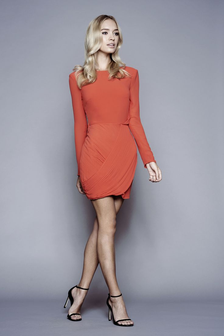 Stylestalker - Azaleas Long Sleeve Dress - Coral