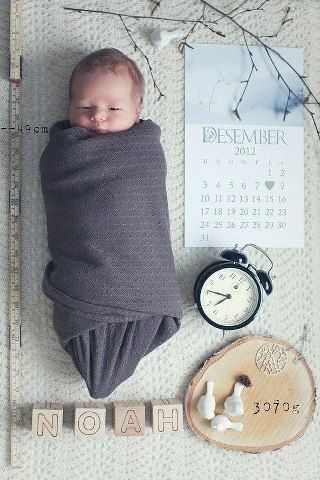 creative, super easy birth announcement you could do yourself in your own style/ theme