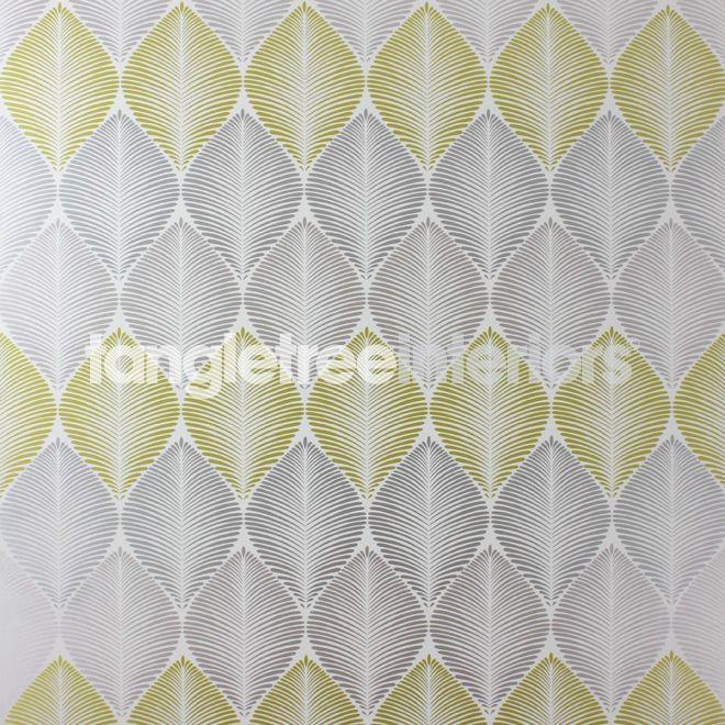 Leaf Fall wallpaper from Osborne & Little - W6591-01 - Metallic Silver/Gilver/ Primrose