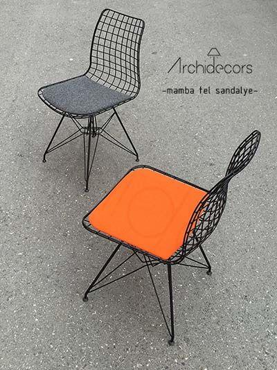 #Siyah #Metal Tel #Sandalye Mamba  Mobilya Tasarım & Üretim