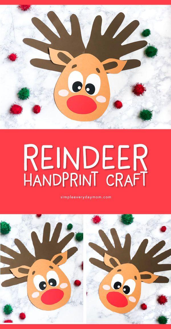 A Handprint Reindeer Craft For Kids