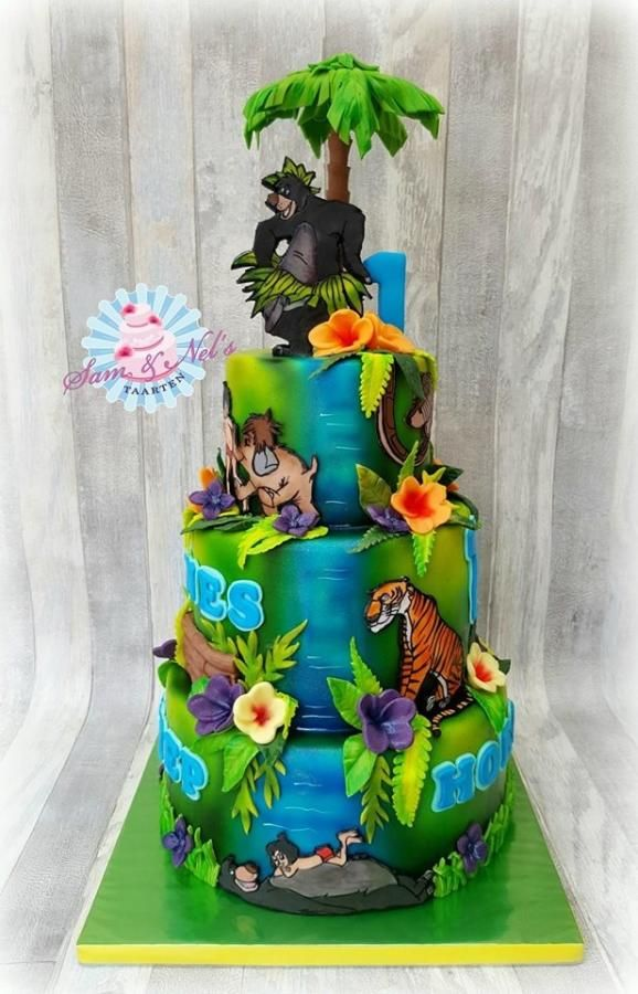 Jungle Book Cake Cake By Sam Nel S Taarten Disney Cakes In