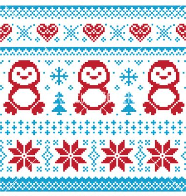 Image of Christmas knitted sweater on VectorStock royalty free.