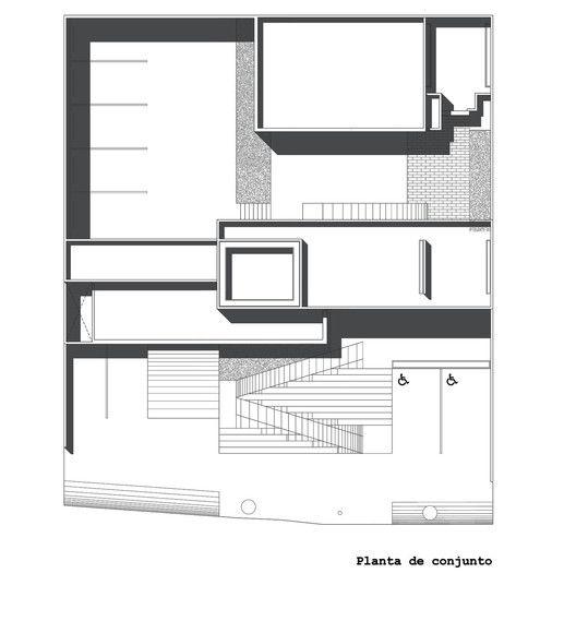 Edificio Sede del Colegio de Arquitectos de San Luis Potosí,Plano Conjunto