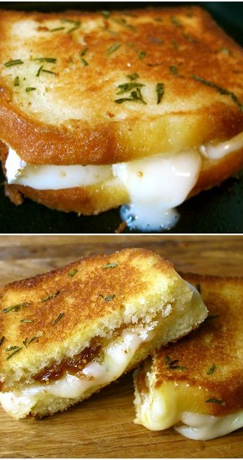 Pound Cake Grilled Cheese With Brie, Fig Jam And Rosemary Butter