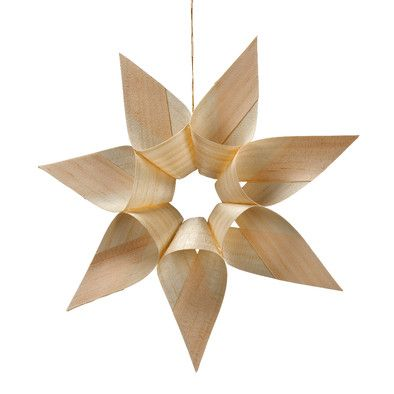 Christmas | Xmas | Jul | Noel. Natural Decoration. Ornaments. Star made from Wood Shavings