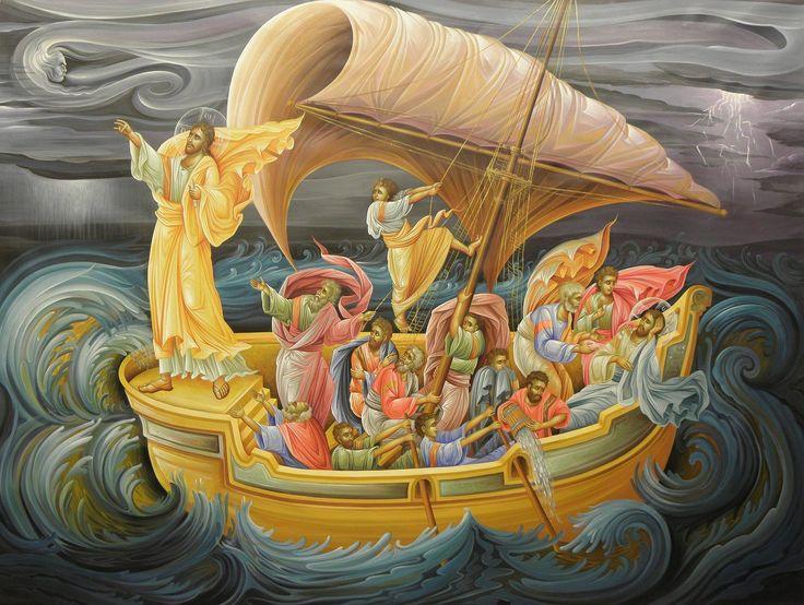IC.XC__ Στη θαλασσα της Τιβεριαδας -ΘΑΥΜΑ ( By the hand of Eleni Dadi