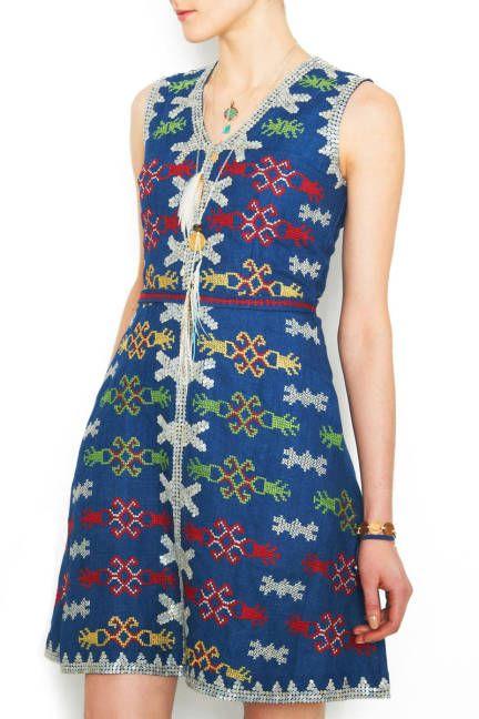 The Dress-Lenora Cabili's creation--embroidered by the T'Boli women of Lake Sebu.