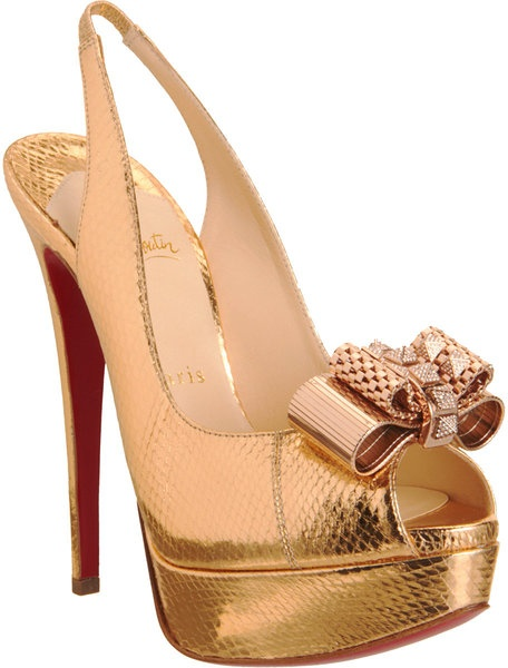 christian louboutin gold booties