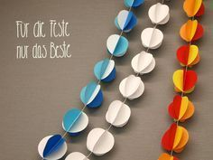 Basteln_Mit_Kindern: Girlande aus Papierbällchen