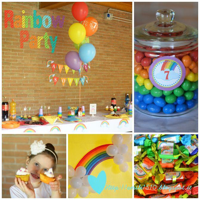 Festa di conpleanno a tema Arcobaleno