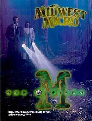 1995 Midwest Micro Computers Ad X-Files Spooky Forest Graphic Arts TV Show Spoof