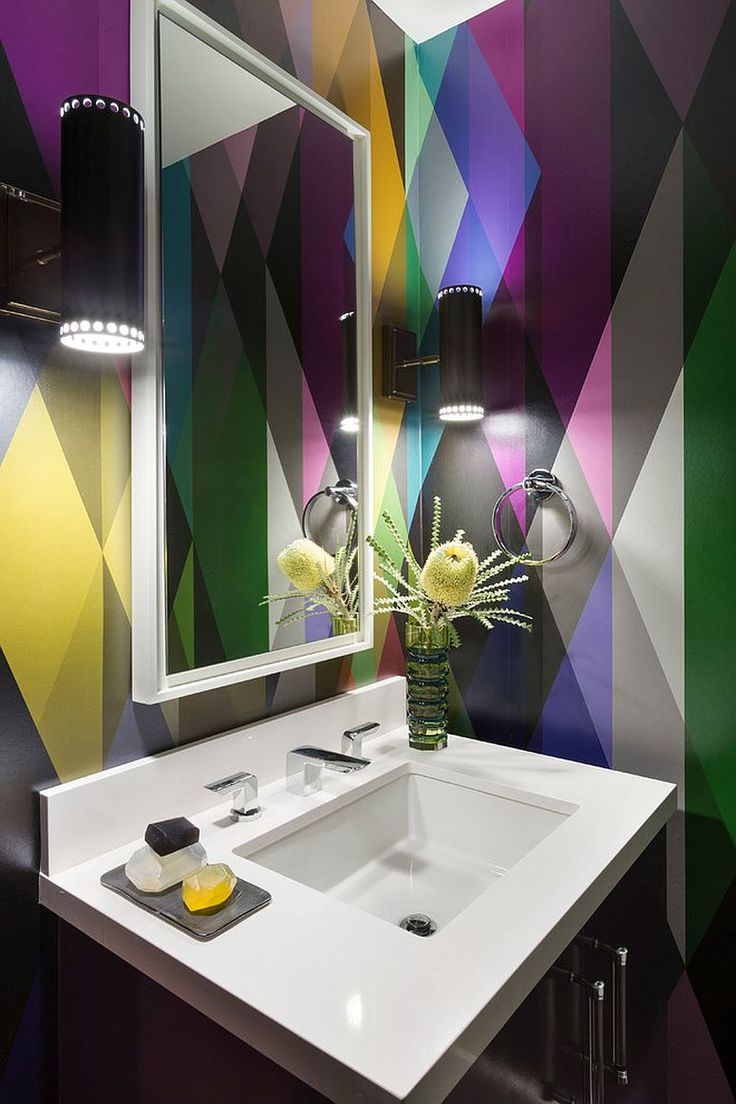 263 best interior design bathroom images on pinterest design 25 awesome rooms that inspire you to try out geometric wallpaper geometric wallpaperwallpaper designsbathroom