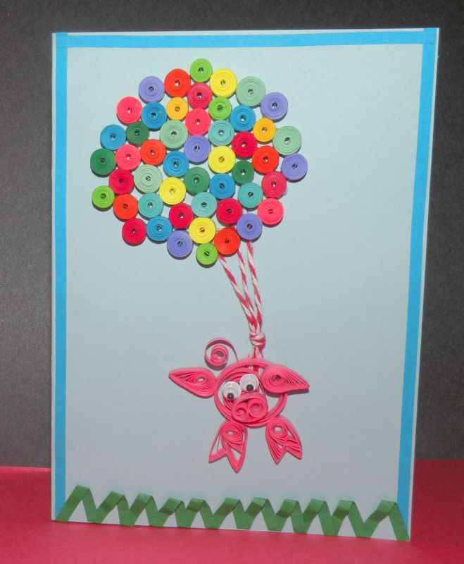 Quilling-  Flying Pig