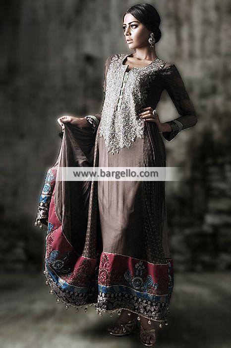 D4636 Naushemian Pakistani Party Wear Collection 2014 For South Asian Women Nauman Arfeen Party Wear