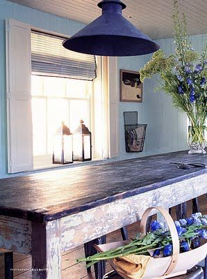 Old farmhouse table.