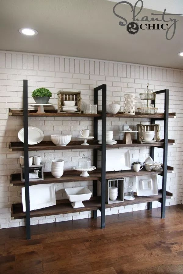 DIY $ 95 Modern Plate Rack