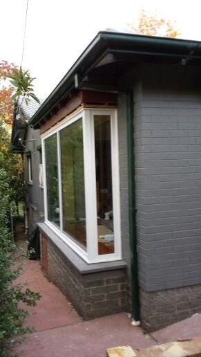 Bay window upvc double glazed