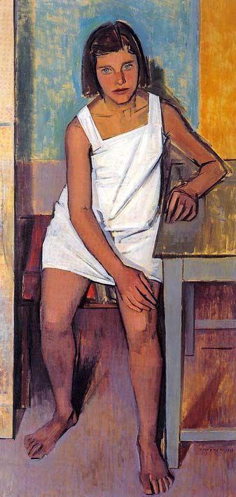 """γιάννης μόραλης πινακες - Γιάννης Μόραλης """"Φανή"""", 1949, λάδι σε μουσαμά"""