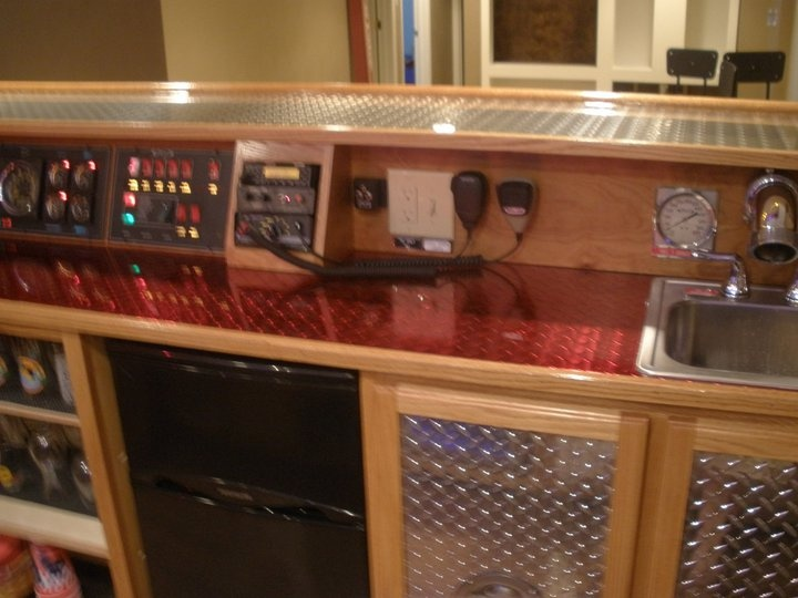 Elegant Behind The Bar. Radios, Check. | Fire Room/FF Man Cave