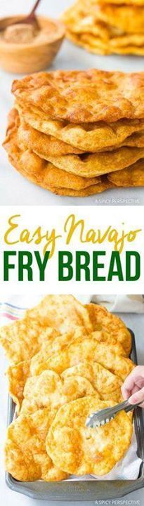 Easy Navajo Fry Brea Easy Navajo Fry Bread Recipe  Bubbly...  Easy Navajo Fry Brea Easy Navajo Fry Bread Recipe  Bubbly flatbreads you can enjoy as-is use is tacos and wraps or sprinkle with cinnamon sugar for easy desserts! Recipe : http://ift.tt/1hGiZgA And @ItsNutella  http://ift.tt/2v8iUYW