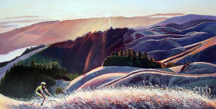 mt tam sunset rideSunsets Bikes, Tam Sunsets, Artsy Inspiration, California Artists, Valley Artists, Artsy Fartsy, Bikes Riding, Art Painting, Sunsets Riding