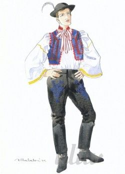 Festive clothes; Man's costumes from village Čataj, Bratislava region, Western Slovakia