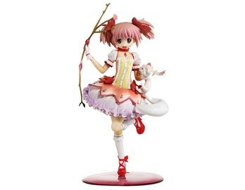 Anime PVC & ABS Madoka Magica Kaname Madoka Action Figure This Kaname Madoka figure looks very much like the real character in the anime Madoka Magica. It will be loved by fans of Madoka Magica.