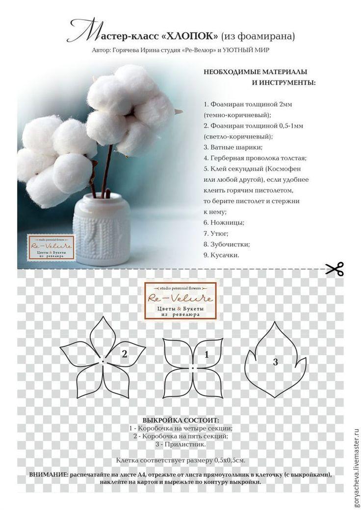 Мастер-класс по изготовлению коробочки хлопка из фоамирана. Легкий и простой способ изготовления. Украсит зимние букеты и композиции, а также подойдет для использования в топиариях.