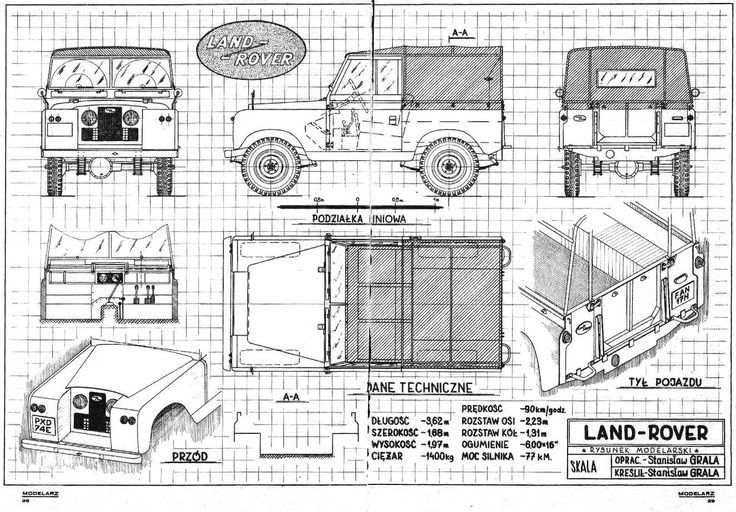 technical drawing land rover - Google-søgning