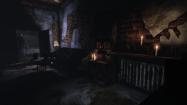 Survival Horror Game | Screenshots Thanatophobia tonen een ouderwetse survival horror-game