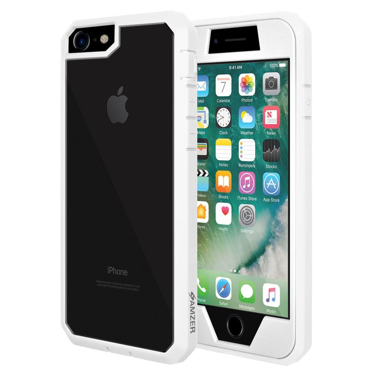 Kryt na iPhone 7 - Amzer Full Body Hybrid Case AMZ200282 bílý