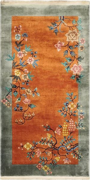 OLD CHINESE DECO RUG Origin: CHINA