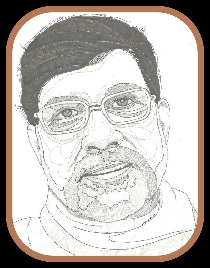 Kailash Satyarthi Person sketch, Sketches, Portrait