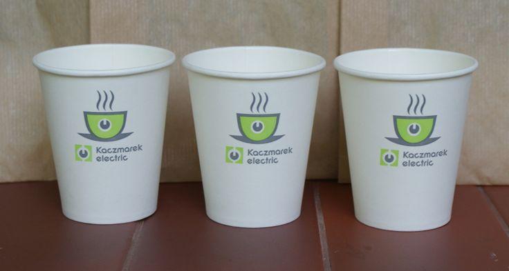 papierowe kubki do kawy na wynos / tampo druk - 2 kolory/ karolla.com