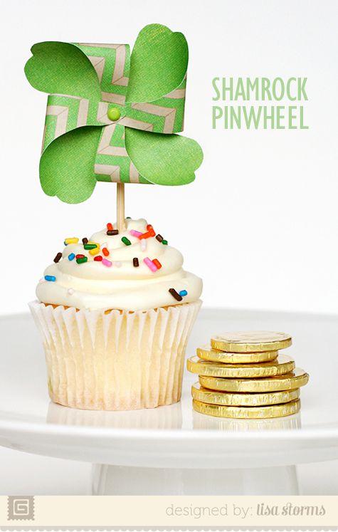 Shamrock Pinwheel with free template