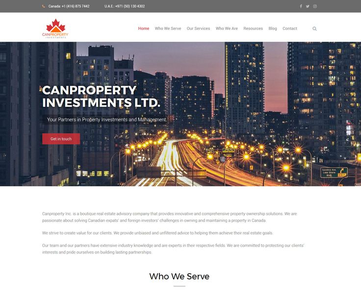 2017 / Website design for CanProperty - property investments and management service. #webdesign #webdevelopment #eggsmedia #websitedesign #property #propertymanagement